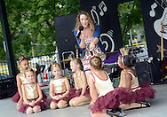Kim Cupo and a young group of dancers from Downstage Center perform during the Morrisville Labor Day Picnic Monday September 5, 2016 at Williamson Park  in Morrisville, Pennsylvania. (Photo by William Thomas Cain)