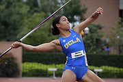 Christina Chenault of UCLA places fourth in the women's javelin at 108-6 (33.08m) during an NCAA college dual meet in Los Angeles, Sunday, April 28, 2019.
