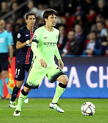 David Silva of Manchester City - Mandatory by-line: Robbie Stephenson/JMP - 06/04/2016 - FOOTBALL - Parc des Princes - Paris,  - Paris Saint-Germain v Manchester City - UEFA Champions League Quarter Finals First Leg