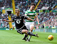 26/07/17 CHAMPIONS LEAGUE QUALIFYING <br />  CELTIC v ROSENBORG <br />  CELTIC PARK - GLASGOW <br />  Rosenborg's Vegar Eggen Hedenstad (left) slides in to tackle Kieran Tierney