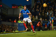 Portsmouth Defender, Lee Brown (3) keeps the ball in play during the EFL Sky Bet League 1 match between Portsmouth and Sunderland at Fratton Park, Portsmouth, England on 22 December 2018.