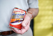 Pops Peterson eats a can of mackerel everyday for lunch.