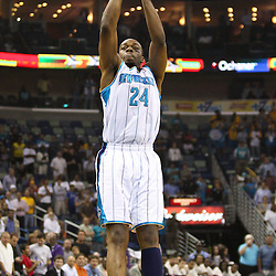 April 6, 2011; New Orleans, LA, USA; New Orleans Hornets power forward Carl Landry (24) during the first half at the New Orleans Arena.   Mandatory Credit: Derick E. Hingle-US PRESSWIRE