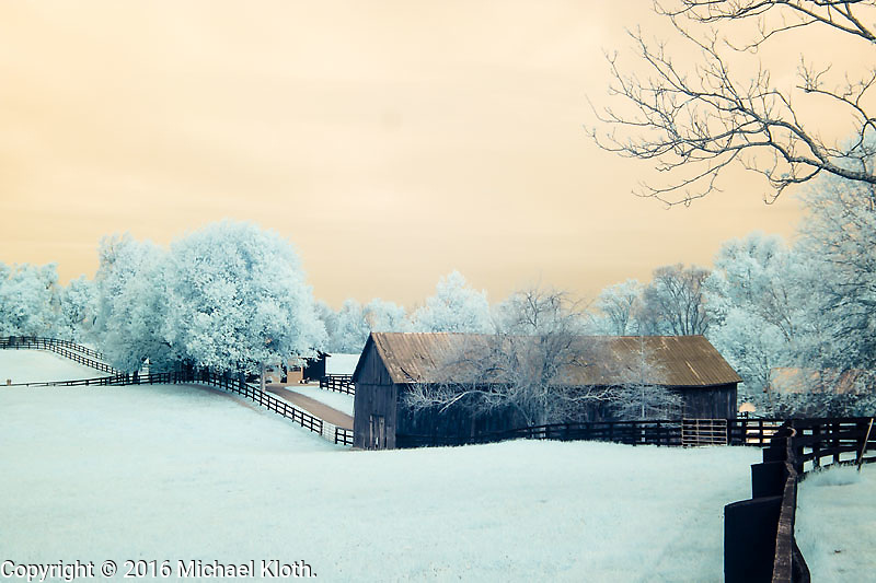 Infrared photographs of Lexington, Kentucky
