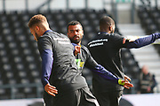 Derby County defender Ashley Cole (26) warms up during the EFL Sky Bet Championship match between Derby County and Rotherham United at the Pride Park, Derby, England on 30 March 2019.