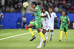 6?10??????????????????????????????????.Yvonne Leuko (L) of Cameroon vies with Nichelle Prince (R) of Canada during..???????????????2019?6?11?.?????????——E??????????????.?????????????2019??????????E???????????1?0??????.?????????..(SP)FRANCE-RENNES-2019 FIFA WOMEN'S WORLD CUP-GROUP E-CANADA VS CAMEROON..(190611) -- MONTPELLIER, June 11, 2019  the group E match between Canada and Cameroon at the 2019 FIFA Women's World Cup in Montpellier, France on June 10, 2019. Canada won 1-0. (Credit Image: © Xinhua via ZUMA Wire)