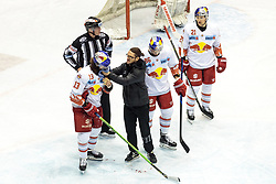 03.01.20118, Eiswelle, Bozen, ITA, EBEL, HCB Suedtirol Alperia vs EC Red Bull Salzburg, 36. Runde, im Bild Michael Schiechl (EC RBS), Bobby Raymond (EC RBS) // during the Erste Bank Icehockey League 36th round match between HCB Suedtirol Alperia and EC Red Bull Salzburg at the Eiswelle, Bozen, italy on 2018/01/03. EXPA Pictures © 2018, PhotoCredit: EXPA/ Johann Groder