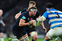 Tom Wood of England takes on the Argentina defence - Mandatory byline: Patrick Khachfe/JMP - 07966 386802 - 26/11/2016 - RUGBY UNION - Twickenham Stadium - London, England - England v Argentina - Old Mutual Wealth Series.