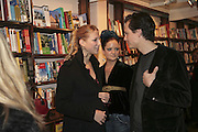 Lady Ella Windsor, Lady Eloise Anson and Robert Denning, Book launch of Pretty Things by Liz Goldwyn at Daunt <br />