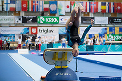 Sara Peter of Hungary at Vault during Finals of Artistic Gymnastics FIG World Challenge Koper 2018, on June 2, 2018 in Arena Bonifika, Koper, Slovenia. Photo by Urban Urbanc / Sportida