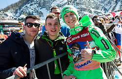 Jurij Tepes (SLO) with fans during Ski Flying Hill Team Competition at Day 3 of FIS Ski Jumping World Cup Final 2016, on March 19, 2016 in Planica, Slovenia. Photo by Vid Ponikvar / Sportida