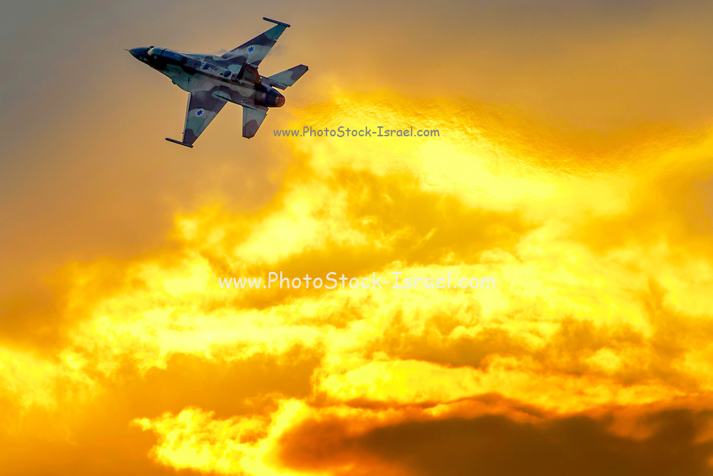 Israeli Air Force (IAF) F-16I Fighter jet in flight
