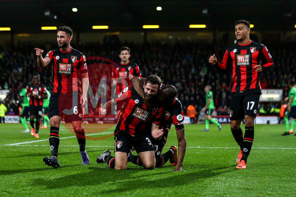 Goal, Steve Cook of Bournemouth scores, Bournemouth 1-0 Southampton - Mandatory by-line: Jason Brown/JMP - Mobile 07966 386802 01/03/2016 - SPORT - FOOTBALL - Bournemouth, Vitality Stadium - AFC Bournemouth v Southampton - Barclays Premier League