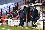 Queens Park Rangers manager Mark Warburton during the EFL Sky Bet Championship match between Barnsley and Queens Park Rangers at Oakwell, Barnsley, England on 14 December 2019.