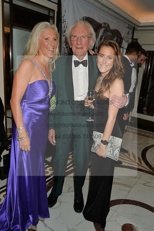 Left to right, MANDY SHEPHERD, DAVID SHEPHERD and PEANUT LAMB at the David Shepherd Wildlife Foundation 30th anniversary Wildlife Ball at The Dorchester, Park Lane, London on 10th October 2014.