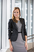 Portrait of beautiful businesswoman standing in office