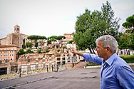 ROME, ITALY - SEPTEMBER 5: Alfonso Sabella, indicates the Capitol, judge at the Court of Naples,  was deputy prosecutor  Palermo's anti-Mafia pool  and Councillor legality of the City of Rome with Mayor Ignazio Marino on September 5, 2016 in Rome, Italy. (Photo by Stefano Montesi)