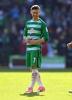 FUSSBALL     1. BUNDESLIGA      29. SPIELTAG    SAISON 2016/2017  SV Werder Bremen - Hamburger SV                   16.04.2017 Freude nach dem Abpfiff: Florian Kainz (SV Werder Bremen)