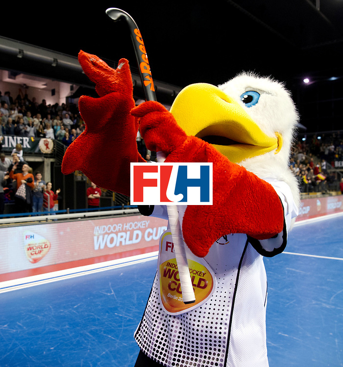 BERLIN - Indoor Hockey World Cup<br /> Quarterfinal 3: Germany - Switzerland<br /> foto: Mascot.<br /> WORLDSPORTPICS COPYRIGHT FRANK UIJLENBROEK