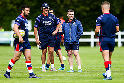 Bristol Rugby Forwards Coach Mark Bakewell and Bristol Rugby Assistant Coach Conor McPhillips - Rogan/JMP - 05/08/2017 - RUGBY UNION - Cleve RFC - Bristol, England - Bristol Rugby v Harlequins - Pre-Season Friendly.