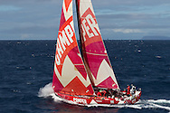 NEW ZEALAND, Cape Reinga. 10th March 2012. Volvo Ocean Race Leg 4. Camper with Emirates Team New Zealand.