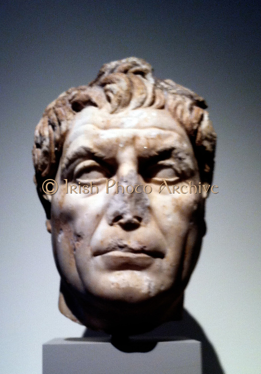 Marble portrait bust of a man. circa 100 AD Roman