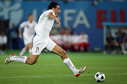 Luca Toni of Italy (9) during the UEFA EURO 2008 Quarter-Final soccer match between Spain and Italy at Ernst-Happel Stadium, on June 22,2008, in Wien, Austria. Spain won after penalty shots 4:2. (Photo by Vid Ponikvar / Sportal Images)