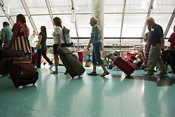 September 7, 2017 - Fort Lauderdale, Florida, U.S - Florda residents wait for departure at Fort Lauderdale-Hollywood International Airport, after a mandatory evacuation has been ordered in several areas due to Hurricane Irma. (Credit Image: © Orit Ben-Ezzer via ZUMA Wire)