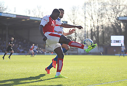 Godswill Ekpolo of Fleetwood Town in action - Mandatory by-line: Jack Phillips/JMP - 25/03/2017 - FOOTBALL - Gigg Lane - Bury, England - Bury v Fleetwood Town - Football League 1