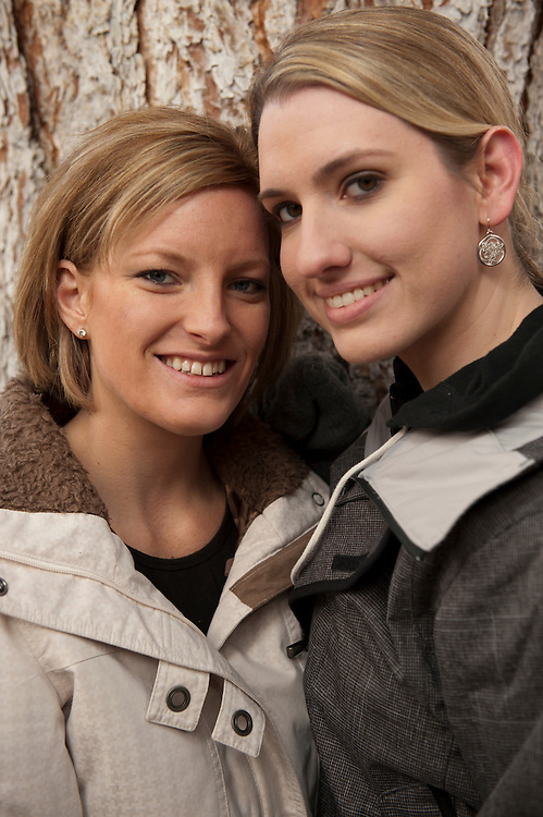 Stephanie Walter and Amelia Savage engagement photos.  Dec. 26, 2011.  (Photo by Aaron Schmidt © 2011)