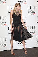 Lily Donaldson, ELLE Style Awards 2016, Millbank London UK, 23 February 2016, Photo by Richard Goldschmidt