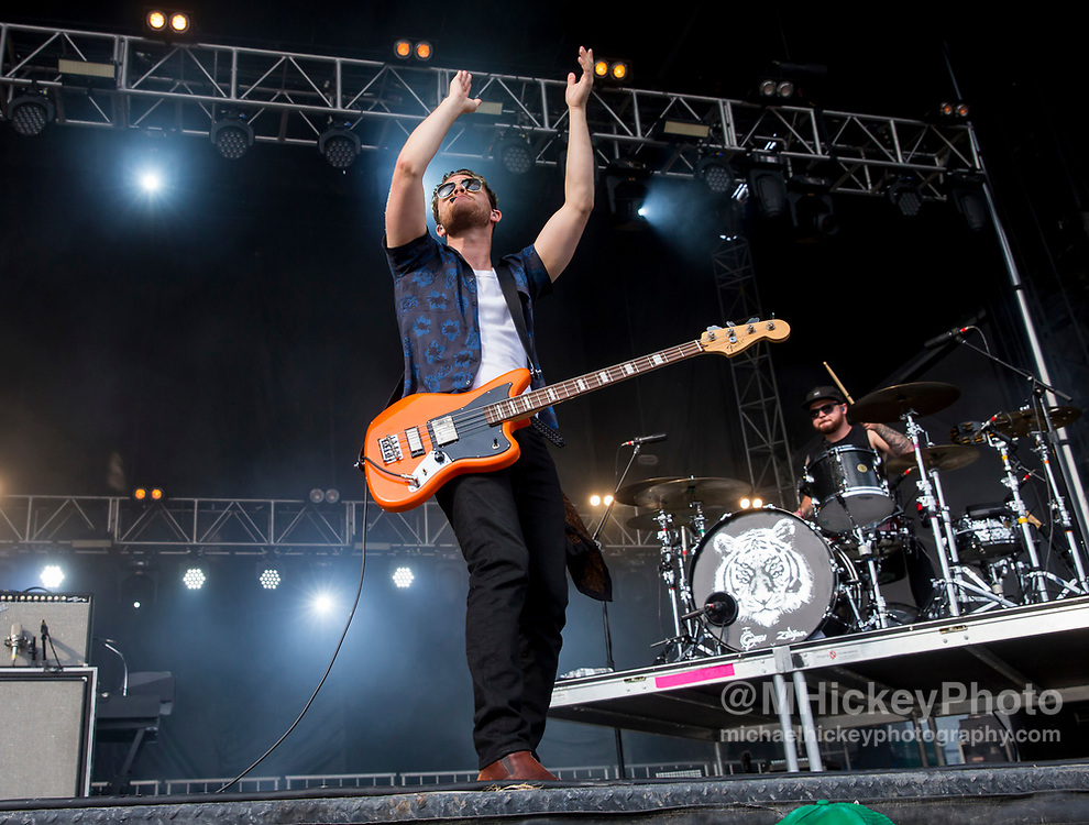 CHICAGO, IL - AUGUST 05: Mike Kerr of Royal Blood performs at Grant Park on August 5, 2017 in Chicago, Illinois. (Photo by Michael Hickey/Getty Images) *** Local Caption *** Mike Kerr