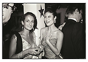 Isobel Goldsmith at Swifty Lazar's Oscar Night party. Spago. Los Angeles. March 1990.