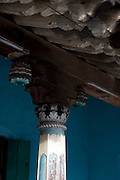Detail of pillar. Home in Karaikal. Puducherry