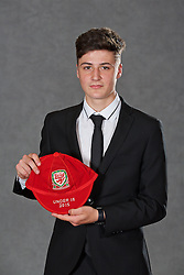 NEWPORT, WALES - Saturday, May 21, 2016: Mason Jones-Thomas at the Under-16's cap presentation at the Celtic Manor Resort. (Pic by David Rawcliffe/Propaganda)
