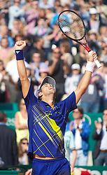 MONTE-CARLO, MONACO - Saturday, April 17, 2010: Fernando Verdasco (ESP) celebrates his 6-2, 6-2 victory during the Men's Singles Semi-Final on day six of the ATP Masters Series Monte-Carlo at the Monte-Carlo Country Club. (Photo by David Rawcliffe/Propaganda)