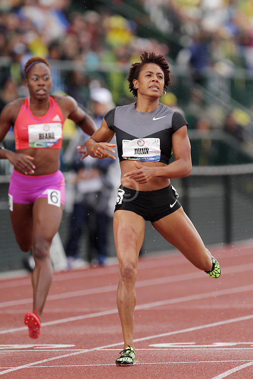 Olympic Trials Eugene 2012: women's 400 meters semifinal, Debbie Dunn, tested postive for steroids after race