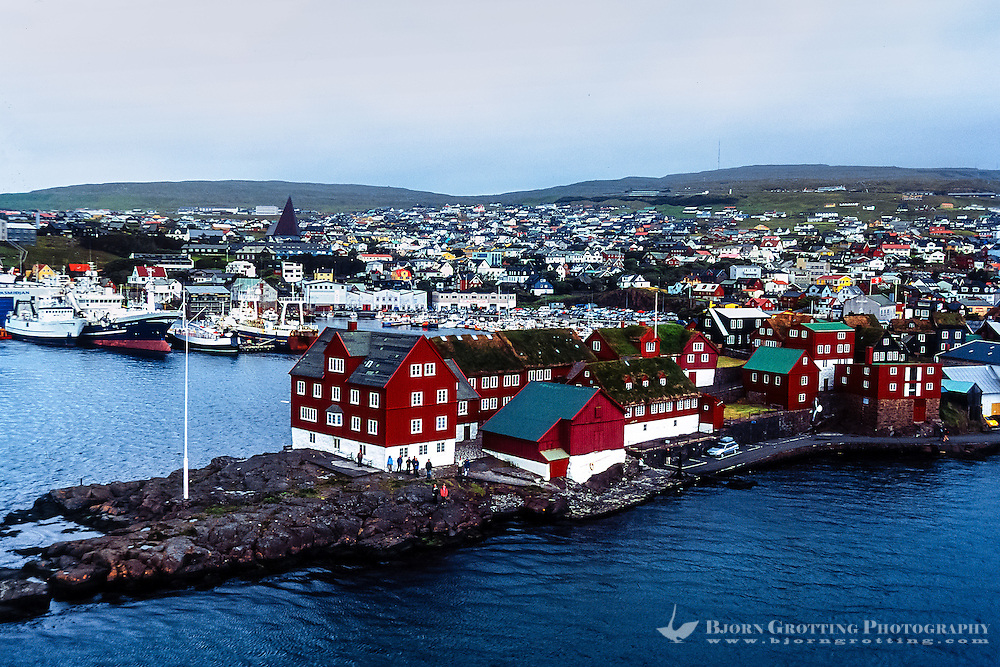 Torshavn is the capital and largest town on the Faroe Islands. Tinganes.