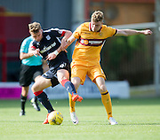 Dundee's Rory Loy and Motherwell's Chris Cadden tussle for the ball - Motherwell v Dundee in the Ladbrokes Scottish Premiership at Fir Park, Motherwell. Photo: David Young<br /> <br />  - © David Young - www.davidyoungphoto.co.uk - email: davidyoungphoto@gmail.com