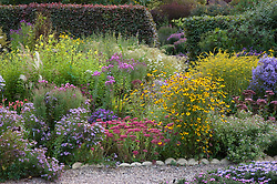 Autumn border in prairie style at Old Court Nurseries, Colwall