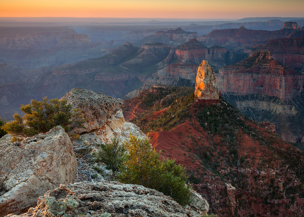 Mount Hayden on the North Rim of Grand Canyon National Park.