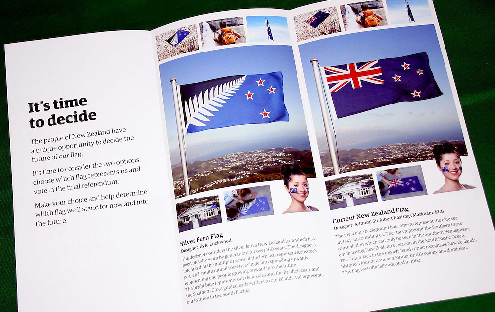 Voting papers have been mailed out for the Flag Referendum with postal voting closing on the 24th March, Auckland, New Zealand, Thursday, March, 2016.  Credit:SNPA / Grahame Clark