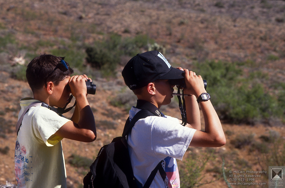 Camp Chiricahua participants search for wild birds, Chiricahua Mountains, Arizona..Media Usage:.Subject photograph(s) are copyrighted Edward McCain. All rights are reserved except those specifically granted by McCain Photography in writing...McCain Photography.211 S 4th Avenue.Tucson, AZ 85701-2103.(520) 623-1998.mobile: (520) 990-0999.fax: (520) 623-1190.http://www.mccainphoto.com.edward@mccainphoto.com.