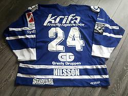 #24 Magnus Nilsson, EfB Ishockey, Originale kamptrøje med autograf.