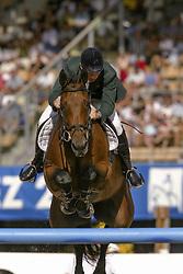 Lennon Dermott (IRL) - Liscalgot<br /> Final 25 round 1<br /> World Equestrian Games Jerez de la Fronteira 2002<br /> Photo © Dirk Caremans
