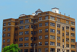 05 June 2014:   Downtown Bloomington. Lafayette Apartment Building, corner of Washington and McLean.