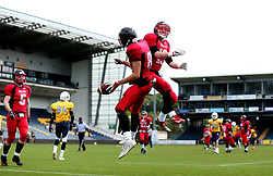 Match action from the BAFA Britbowl National League Finals 2017 - Mandatory by-line: Robbie Stephenson/JMP - 26/08/2017 - AMERICAN FOOTBALL - Sixways Stadium - Worcester, England - East Kilbride Pirates v London Blitz - BAFA Britbowl National League Finals 2017