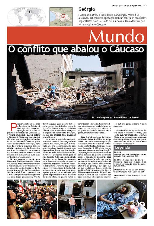 """""""O conflito que abalou o Caucaso"""" in Cipreste"""