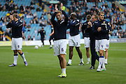 Leeds United defender Liam Cooper (6) applauds the fans during the Sky Bet Championship match between Leeds United and Brighton and Hove Albion at Elland Road, Leeds, England on 17 October 2015.