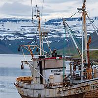 Fishing boat in Sudavik, Iceland.